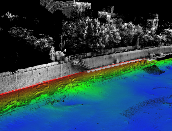 point cloud processing Troy Sea Wall