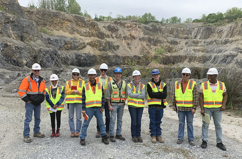 H2H Associates Owner with Marietta College students on an eight-day geology trip to mine sites across the northeast
